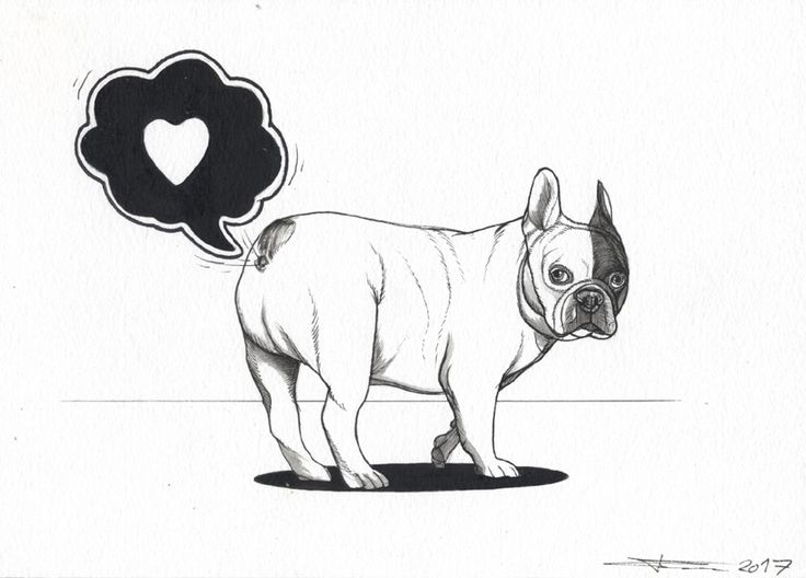 French Bulldog Love, Frenchie Farts, (only Frenchy owners will truly understand this ; )  Sketchbook page of a French Bulldog by the Dog Painter , Jeroen Teunen. www.blackspecs.de