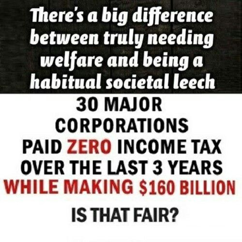 Habitual Societal Leeches will be on the rise under a Trumpredator administration.  #CorporateGreed