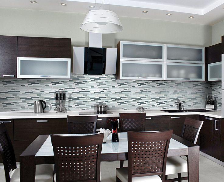 Iceland Glass Stone Linear Blend Mosaics Our Backsplash