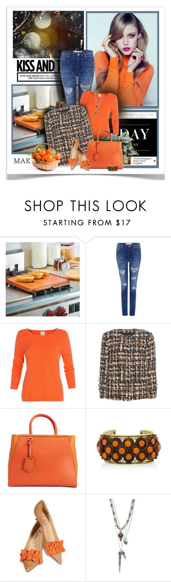 """""""Sunday OOTD"""" by sherry7411 ❤ liked on Polyvore featuring Improvements, Retrò, IRO, Levi's, Dolce&Gabbana, Fendi, Tory Burch, Butter Shoes and Jamierocks"""