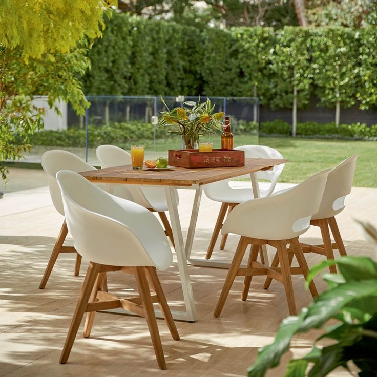 Trenton 2200 Table with 6 Ronan Tub Chairs Package - Packages - Outdoor Early Settler
