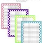 Chevron Classroom Charts *this is a PDF file *Use these charts in your classroom on a data wall or as a reward chart! *Each chart is 8.5 x 11 and h...