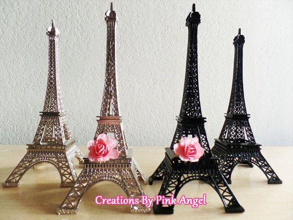10 Metal Eiffel Tower Cake Topper Paris by CreationsByPinkAngel