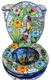 Mexican Talavera Toilet Set Mexican Bathroom Sets Consisting Of Hand  Painted Sink, Talavera Toilet,