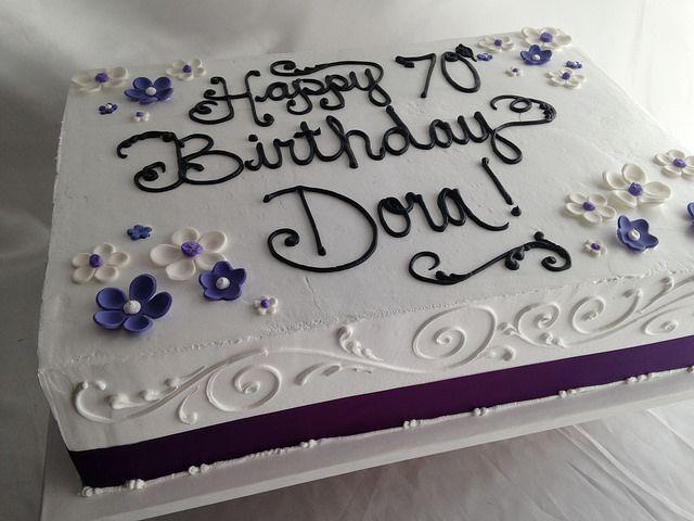purple sheet cake   Women's Birthdays   Pinterest   Sheet Cakes ...