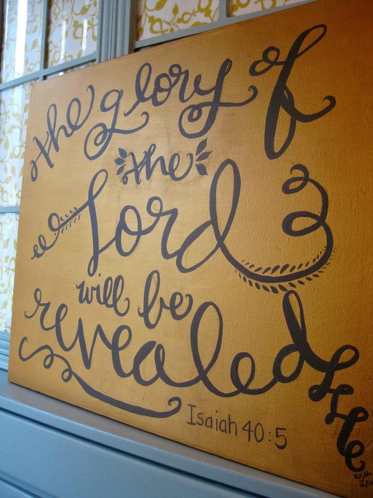Scripture Art Canvas // Hand Lettered Bible Verse Decor. $107.00, via Etsy.