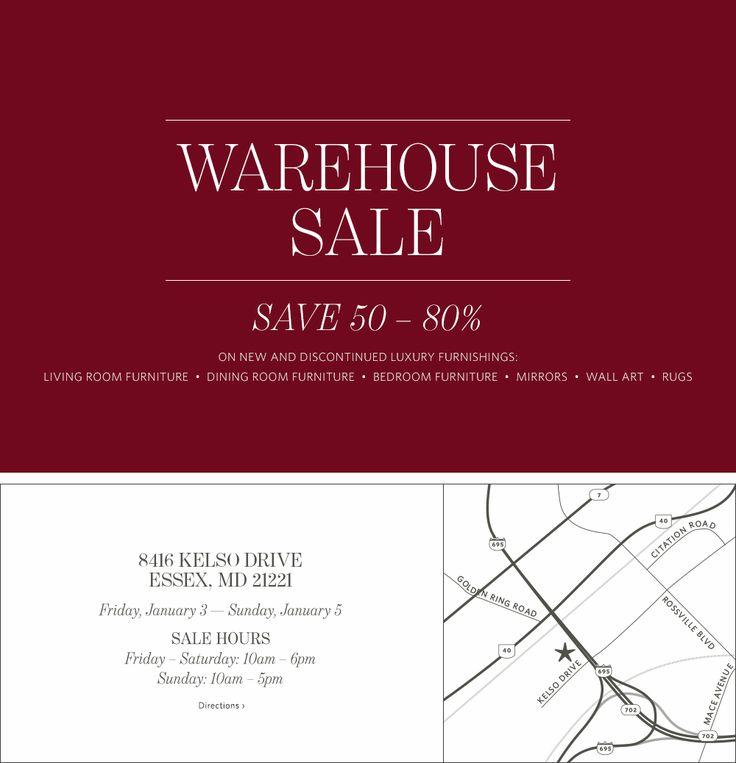 Warehouse Sale - Save 40-60%
