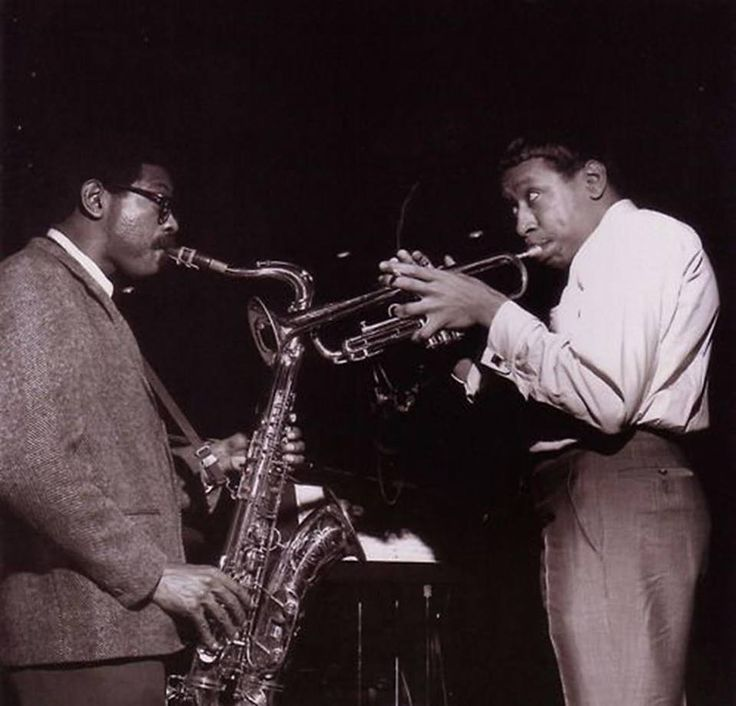 Joe Henderson and Lee Morgan - 'The Rumproller' session, April 21, 1965 by Francis Wolff