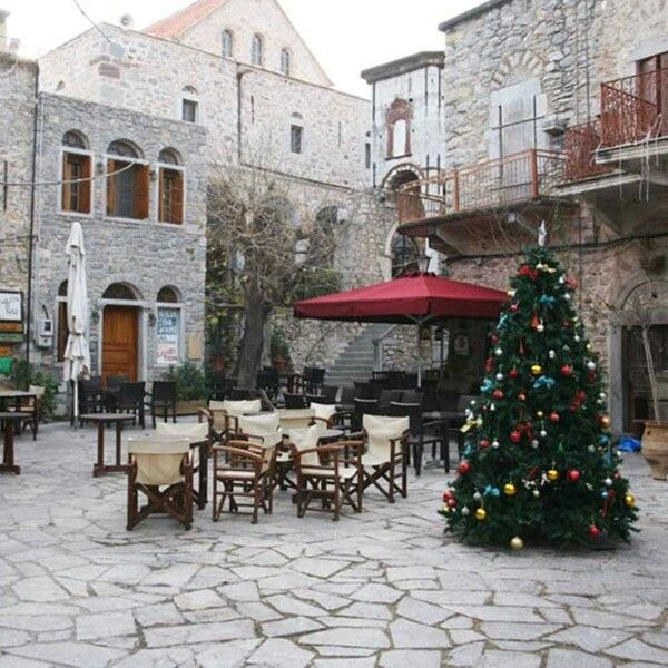 Christmas at Mesta village in Chios, Greece