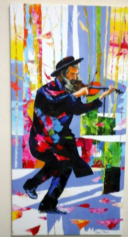Jewish Art Jewish Musician Violin Violinist by art4heart2014