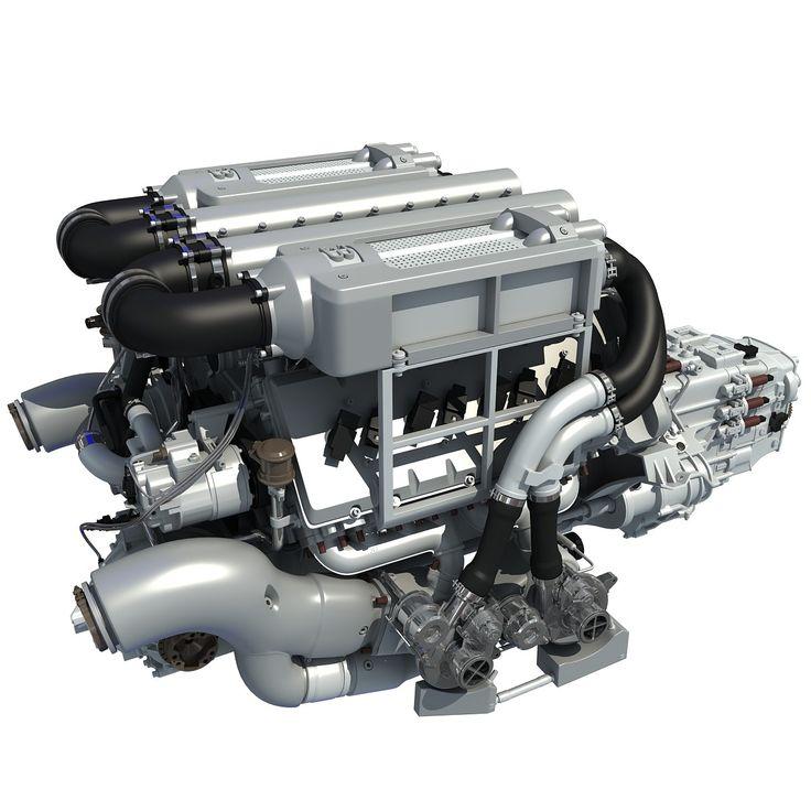 bugatti veyron w16 engine 3d model 3 d models pinterest Veyron W16 Engine Diagram  W16 Quad-Turbo W16 Animation 3D VW W16 Engine