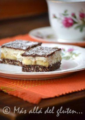 Más allá del gluten...: Cuadritos de Banano y Coco (Receta GFCFSF, Vegana, RAW)