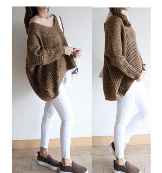 """Unbalance BS18 "" asymmetrical sweater light brown"