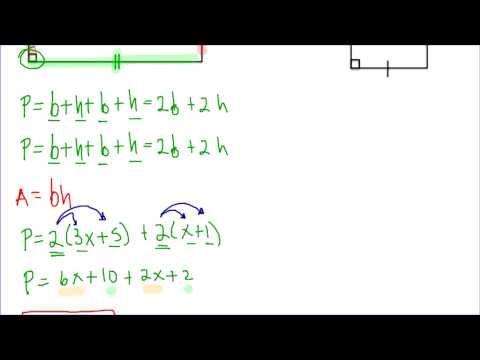 Perímetro de figuras con expresiones algebraicas - YouTube