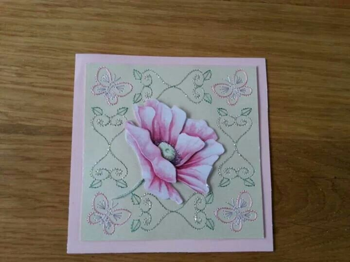 Butterflies and flower card