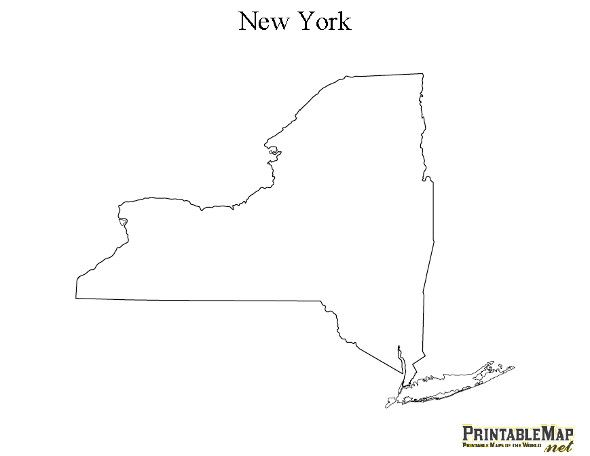 Epic image inside printable maps of new york state
