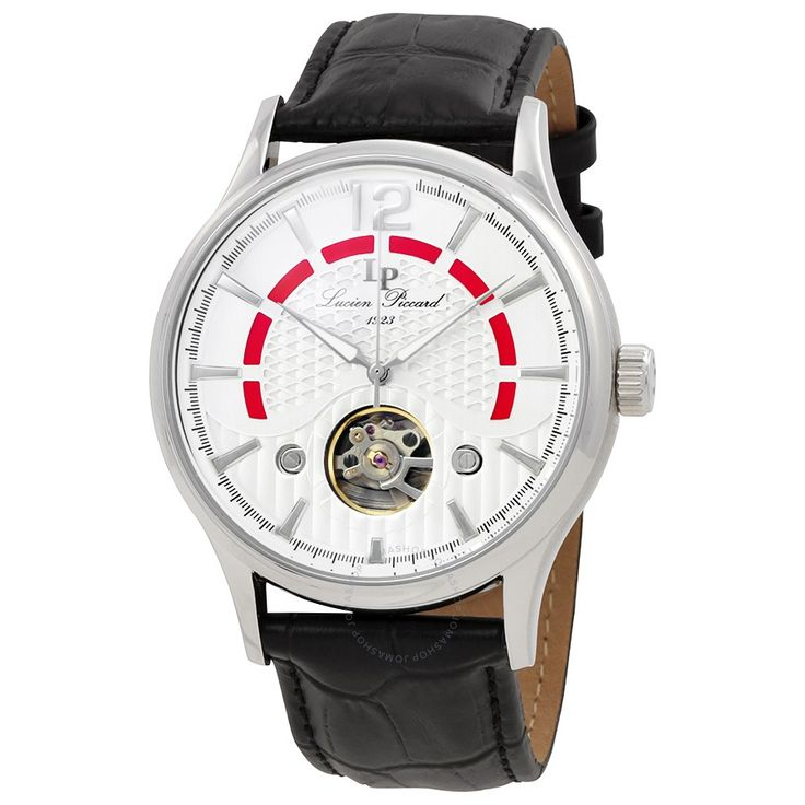 Lucien Piccard Transway Open Heart Automatic Men's Watch LP-15038-02S - Lucien Piccard - Watches - Jomashop