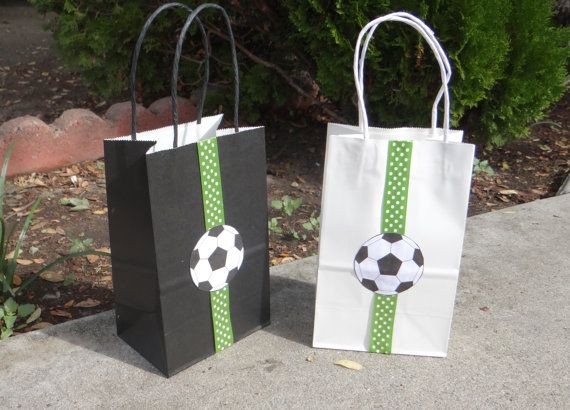 Soccer Birthday Party Theme Favor Bags by FantastikCreations