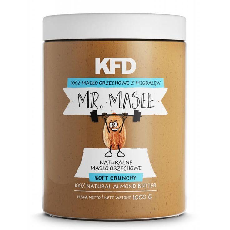 69 Zł - KFD Masło Orzechowe z Migdałów / Almond Butter - Soft Crunchy 100% - 1000 g