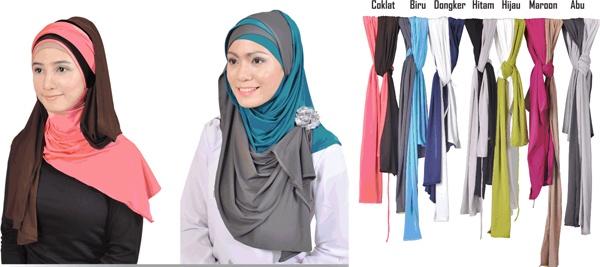 Bagaimana cara memakai jilbab modis ??