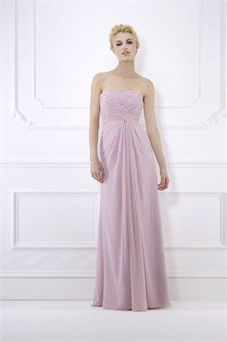 A bridesmaid dress by Kelsey Rose.  Current favourite but in Sea Mist chiffon