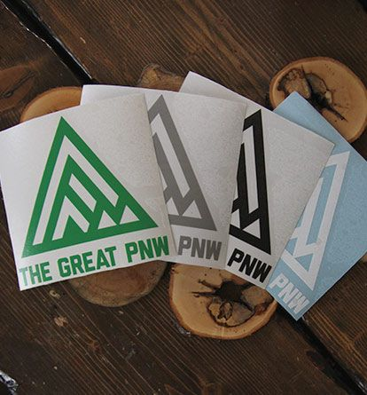 The Great Pacific Northwest — Vinyl Decal. OCEAN RIVER LAKES RAINFOREST AND MOUNTAINS...bam. WELCOME to the GREAT Pacific Northwest