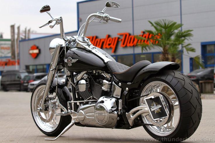 Harley Davidson Fat Boy With Apes Thunderbike Triple