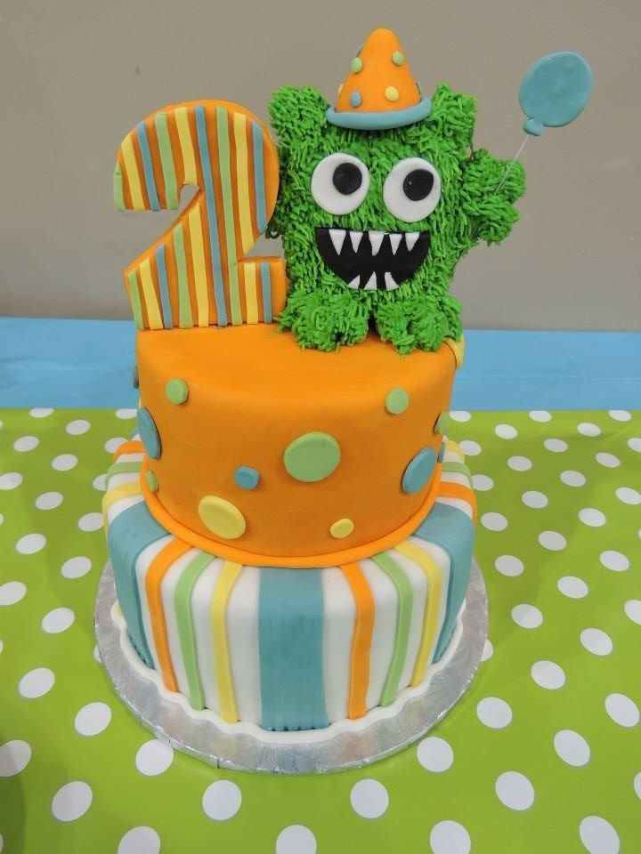 Monster birthday cake by Sweet Serendipity in Tulsa, OK  ~ 060608_Birthday Party Ideas Tulsa