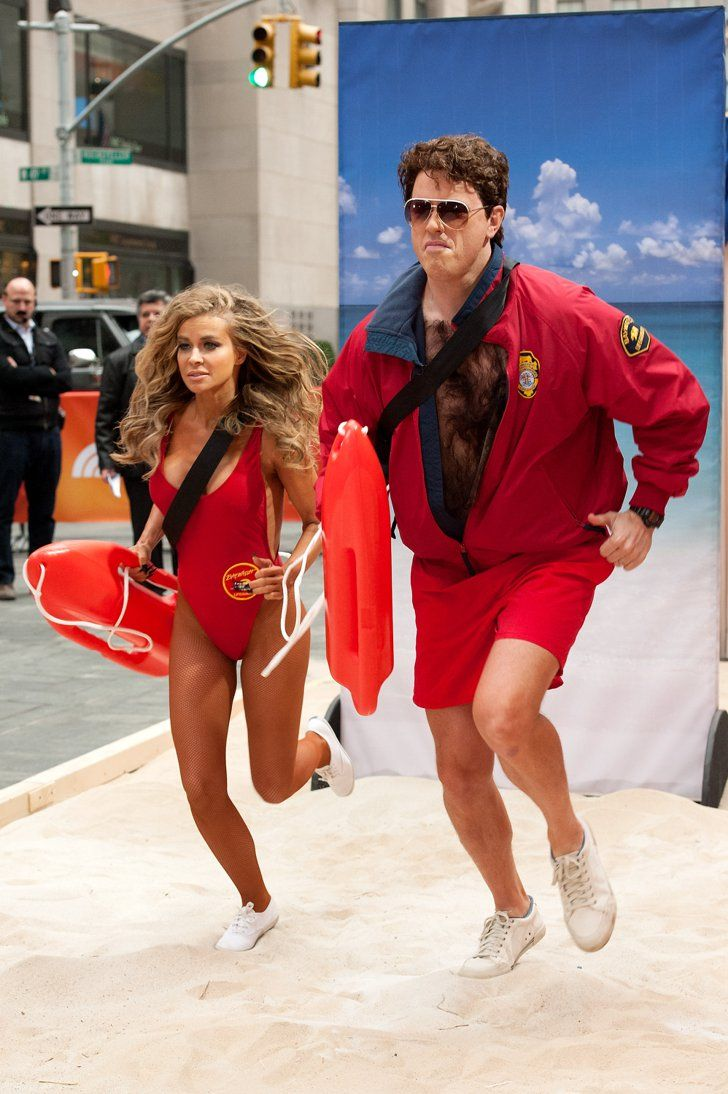 Pin for Later: The All-Time Best Celebrities in Pop Culture Costumes David Hasselhoff Willie Geist and Carmen Electra teamed up for Baywatch costumes in 2013.