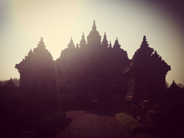Plaosan Temple in Central Java...a morning dew