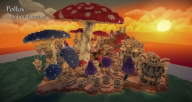 From the builder:LordGuntaz This another older build from my last server, which I spent a couple months building on and off. It is a huge mushroom island with a kingdom built on it. There are many...