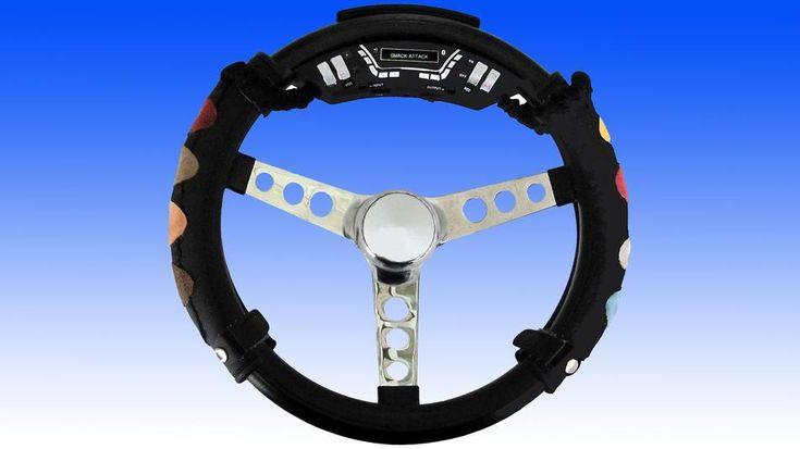 a drum machine steering wheel!!
