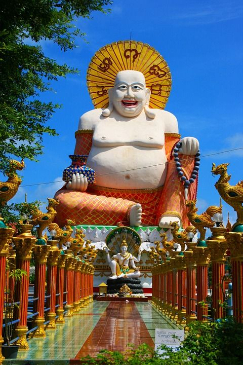 Temple à Kho Samui en Thaïlande