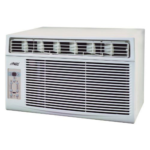 Arctic King MWK-10CRN1 10000 BTU window-mounted air conditioner by Jensen Distribution Services. $399.99. Includes a full-function temperature sensor. 10000 BTU window-mounted air conditioner. 3 fan speeds for custom cooling. One-touch remote control allows adjustment from distance. Ideal for a room of 450 sq. ft.. Now you can cool small areas with the Arctic King MWK-10CRN1 10000 BTU window-mounted air conditioner. It is perfect for cooling one or two rooms. This air conditi...