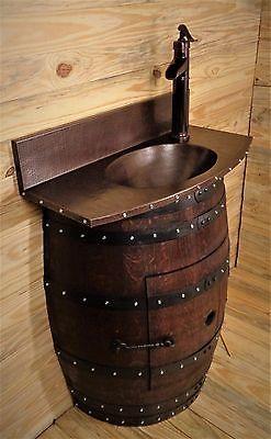 Wine-barrel-sink-vanity-bathroom-copper-counter-top-sink-w-back-splash-amp-faucet