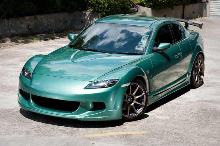Teal Mazda rx8