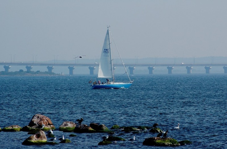 The 6km long bridge between mainland and Öland Island, Sweden