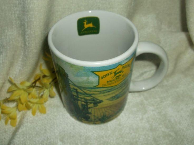 $6.96 John Deere Mug Coffee Cup Tractor Farming  #Gibson