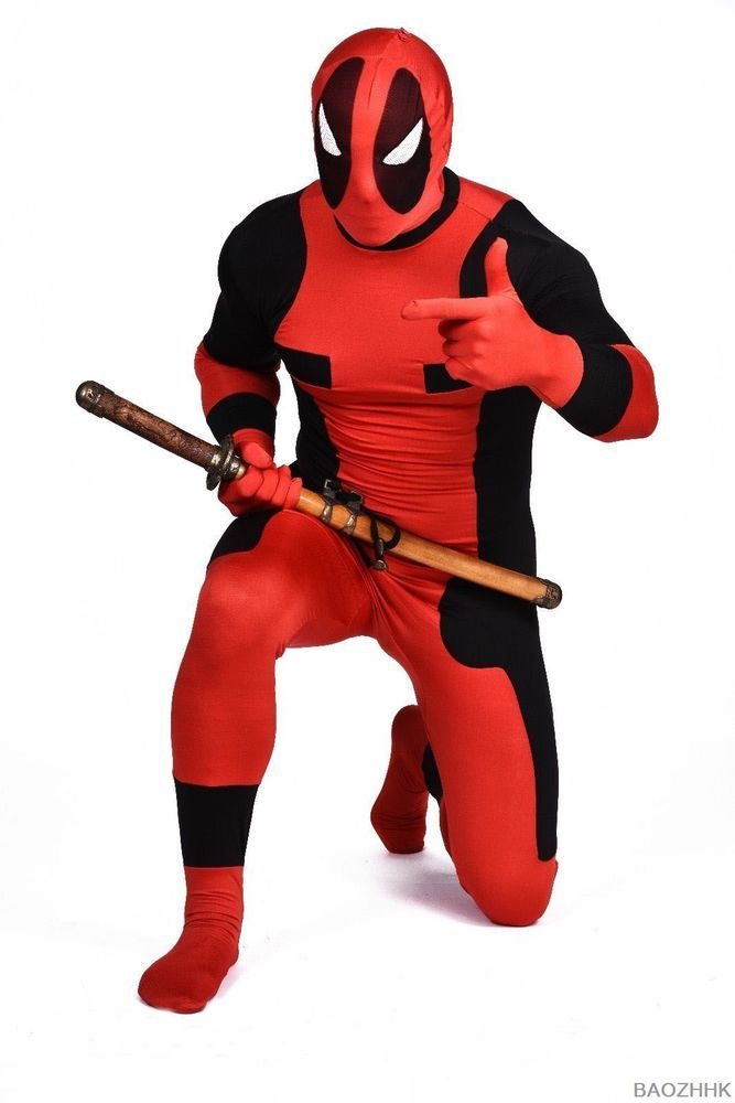 Adult deadpool costume Full body halloween superhero cosplay Spandex bodysuit #Unbranded #deadpool