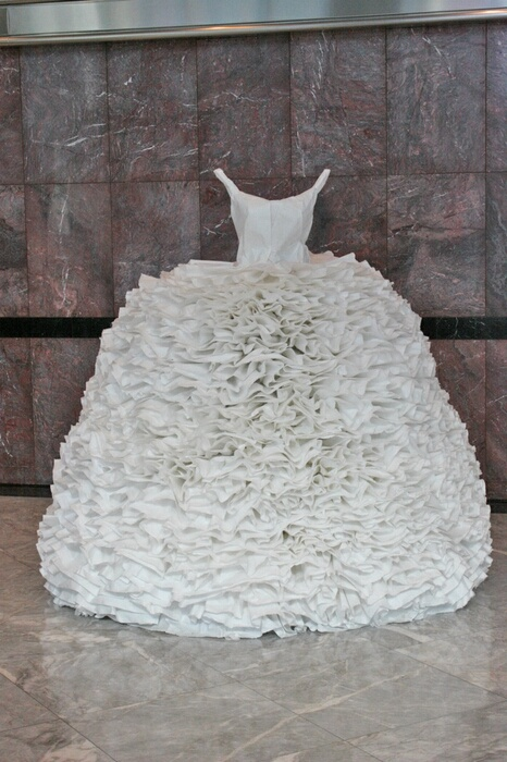Paper dress; Frill, 2008, Artist; Susan Stockwell