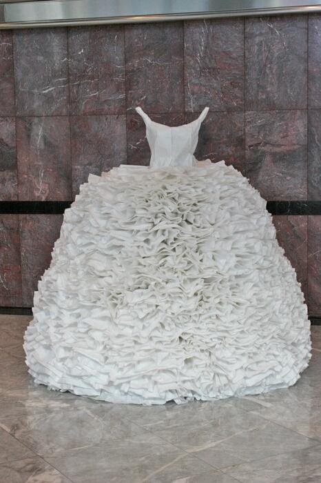 Paper dress; Frill, 2008, Artist; Susan Stockwell
