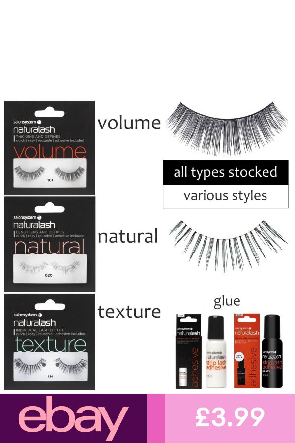 Naturalash Strip Lashes Eyes Natural Volume Texture All Types By