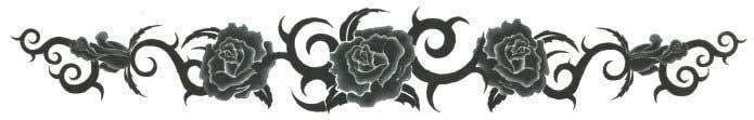 Black Roses Arm XXL Tattoo