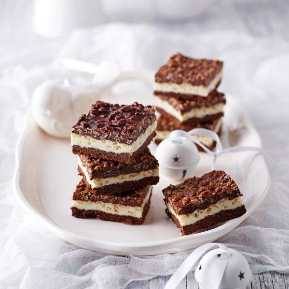 Layered Chocolate Crackle Slice