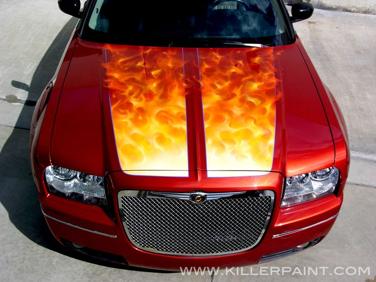 True Fire™ on a Dodge Magnum by Mike Lavallee of Killer Paint Airbrush Studio - www.killerpaint.com
