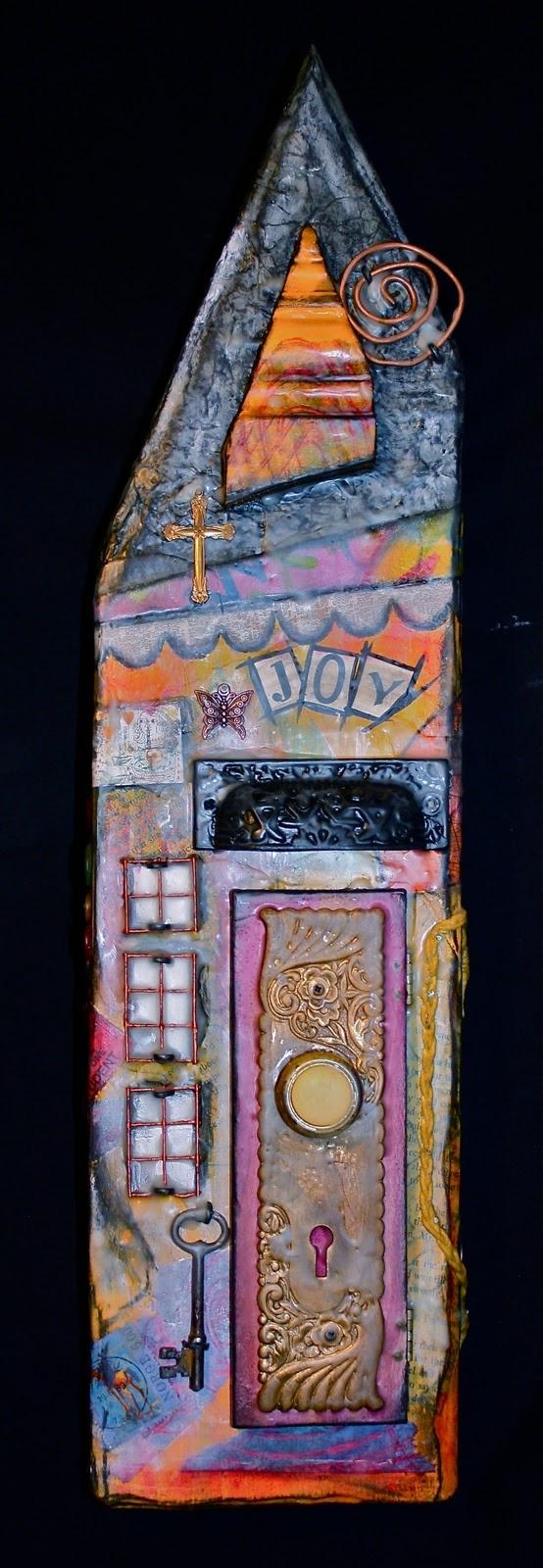 Michelle Leech Art: Mixed Media Houses That Inspire