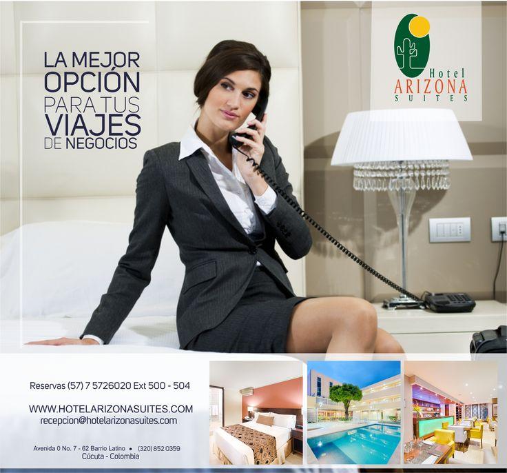 La mejor experiencia en tu estadía la puedes vivir en el Hotel Arizona Suites Cúcuta pregunta por nuestras tarifas corporativas y sus beneficios. Comunícate al 57 7 5726020 Ext 518. #Cucuta #HotelesCucuta #Colombia #Viajesdenegocios #Empresas