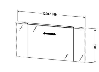 Duravit Delos Speil m/LED Modul 1750x860 mm.
