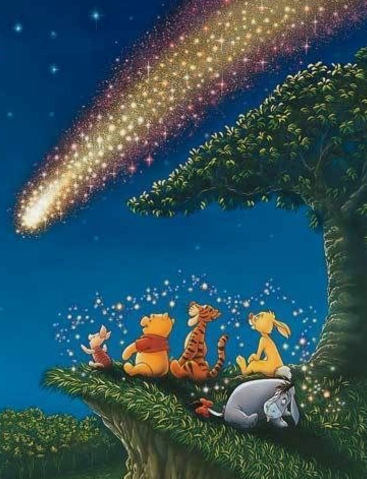 Come Out Moon, Come Out Wishing Star, Come and Find Me   Pooh Bear