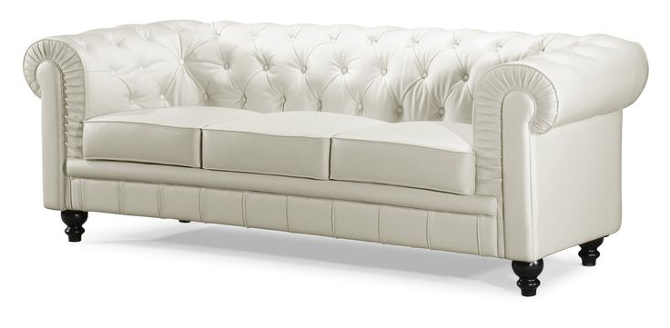 This beautiful but very expensive whate leather couch is supposed to be very ergonomic. I wonder if the Chesterton sofa in general is more ergonomi than many couches with softer backs? This would be my perfect couch in gray fabric...at a lower price hopefully...Amazon.com - Zuo Aristocrat Sofa, White - Tufted Leather Sofa